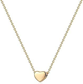 Gold Heart Necklace Jewelry Pendent Long Necklace or Choker for Women