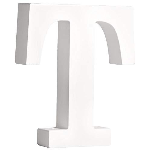 """Rayher 62671000 MDF- Buchstabe """"T"""", weiß, 11 cm, Stärke 2 cm"""