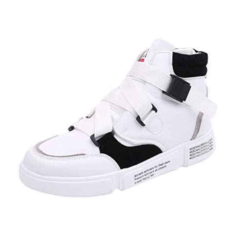 TWISFER Herren Sneakers Sportschuhe Schuhe Streetwear High Top Boots Hip Hop Mann Straßen Tanz...
