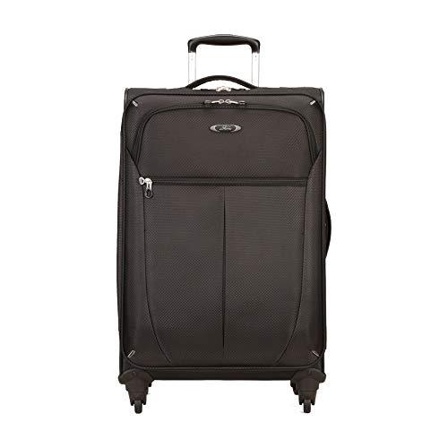Skyway Luggage Mirage Superlight 24-Inch 4 Wheel Expandable Upright, Black, One Size, Checked-Medium