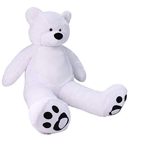 VERCART Giant Cuddly Stuffed Animals Huge Big Plush Teddy Bear Toy Doll for Birthday Children's Day Valentine's Day (72 inch, White)