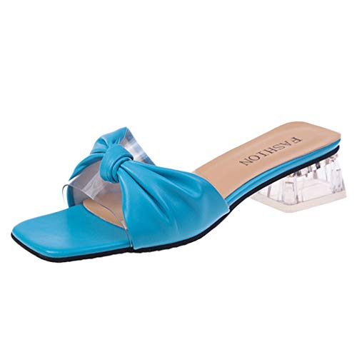 Bluestercool Moda Donna Tacco Alto Spessa Sandali Trasparenti Wild Casual Pantofole