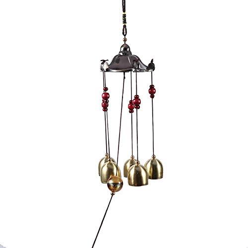 Junluck Carillon à Vent Vintage Good Luck, Carillon à Vent Best Wishes, extérieur pour Le Bureau pour la Maison