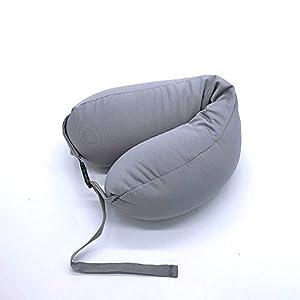 TPM Almohada en Forma de U, Espuma de gránulos Almohada para el Cuello Almohada de Viaje Japonesa de múltiples Funciones de la Almohadilla del sueño Conveniente 69 * 15 * 10cm,Colour4