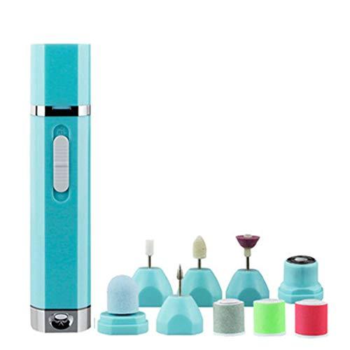 JIAHAO Limador eléctrico de manicura y pedicura con 9 accesorios para moler,...