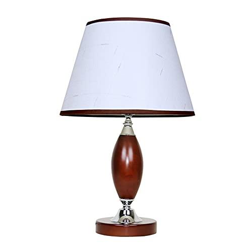 SPNEC Lámpara de Mesa de Madera Americana Dormitorio Estudio de Noche lámpara Retro lámpara lámpara marrón lámpara Cuerpo de Noche lámpara