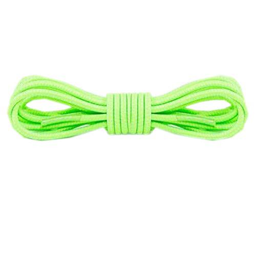 Friendshiy - cordones redondos de color para mujer, con cordones elásticos, 105 cm, para deportes al aire libre, alta elasticidad, Verde (verde), Talla única