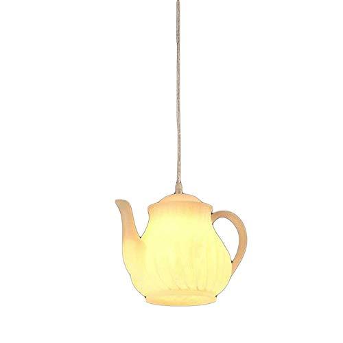 Pendelleuchte Kronleuchter Lampe Postmoderne Single-Head White Resin Teekanne Esszimmer Restaurant Bar Cafe Licht