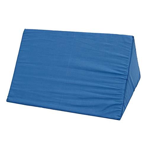 LYYCEU Memory Foam Orthopedical Säure Reflux Bett Keilkissen Punt Bein Elevation Kissen Support Cover Pad (Color : Blue)