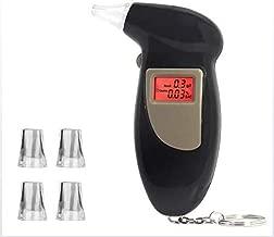 جهاز قياس نسبة الكحول من نوع المنقار من نوع جهاز كشف الكحول بشاشة LED عالية الدقة 5 فلاتر نفاخة للقيادة الآمنة، تمنع القيادة من حالة سكر لون أسود
