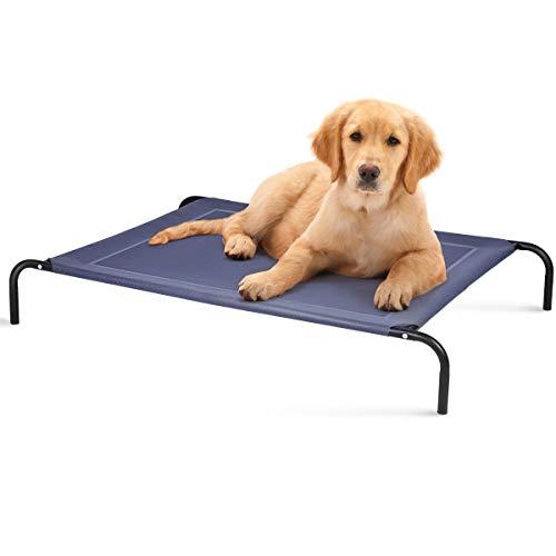 DREAMADE Hundeliege 40 kg/70 kg Belastbar, Hundebett Haustierschlafplatz Haustierbett aus Metall, Hundesofa HundebettenHundematte für Indoor und Outdoor (XL)