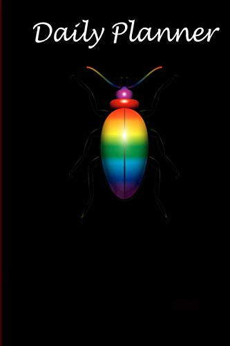 Daily Planner - LGBT Gay Pride Month Rainbow Bug Transgender Gift: Daily planner, 6x9 inch, 136 pages - Birthday gift ideas for kids men women