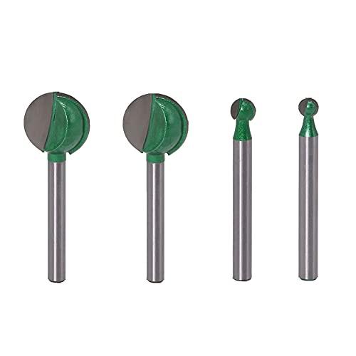 de cabezales de fresado de vástago de 6 mm para carburo de tungsteno con núcleo de radio de fresa CNC Muwan 4 piezas