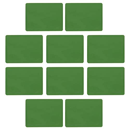 YngFfb Protector De Tarjeta De Vacunación, 10 PCS Portatarjetas De Vacunación, El Plástico Suave Envuelve El Tenedor De La Tarjeta De Identificación Impermeable Para La Tarjeta(Verde)