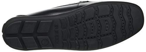 Geox Boy's J New Fast Boy Mocassins, Black, 5 UK