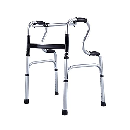 Silla de bastón para ancianos bariátrica plegable vertical de rehabilitación de pie Marco de pasamanos de rehabilitación de pie Caminantes de aleación de aluminio para personas mayores Muleta ZZST