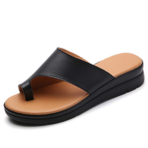 ONEYMM Sandalias de Plataforma para Mujer Sandalias ortopédicas Cuero de PU Zapatos...