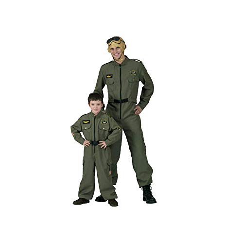 Party Discount ® Herren Kostüm Pilot, Overall in grün (48/50)