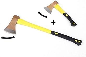 TronicXL Profi 80 cm Spaltaxt mit Holz Stiel Axt Spalthammer Holzspalthammer 43cm Forstaxt Holzaxt Set Forst Forstwirtschaft Holz f/ällen Brennholz