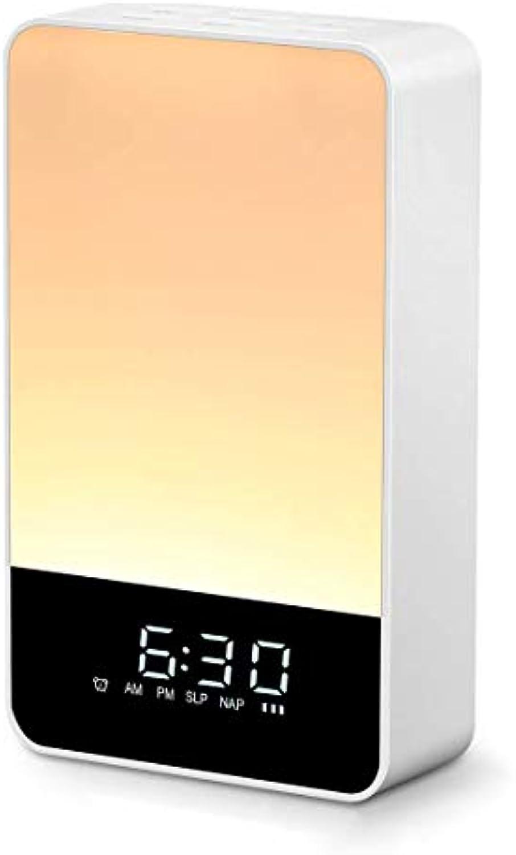HBWJSH Neues Multifunktions-Weckalarm-Wecklicht Simuliertes Sonnenaufgangs-Wecklicht LED-farbenfrohe Weckfunktion (76 x 30 x 128 mm)