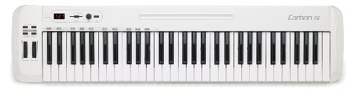 Samson Carbon 61 - Teclado controlador USB/MIDI (61 teclas, con software Native Elements), color blanco