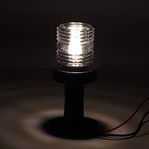 Navigation Light,Akozon Marine Boat LED Navigation Light All Round 360° Yellow Light with Bracket