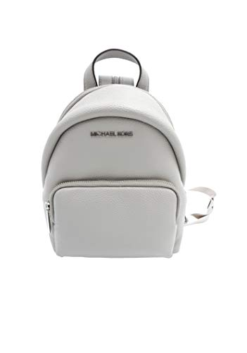 Michael Kors 35T0SERB5L Pearl Grey/Silver Hardware Erin Small Convertible Women's Leather Backpack