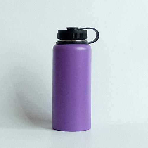 Wzmdd Grote Smooth thermosfles met vacuümfles, roestvrij staal, thermosfles voor outdoor-sportflessen, 1200 ml, stijl 13