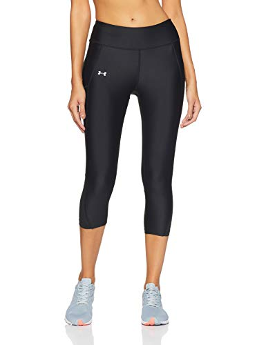 Under Armour Fly By Capri Damen Running - Kompressionswäsche/Hosen, Black/Reflective, XS, 1297933