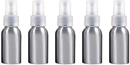 Botella de pulverización portátiles Recargables de Cristal 5 PCS Niebla Fina de Aluminio Atomizadores Botella, 50 ml (Negro) Botella de Spray (Color : Transparent)