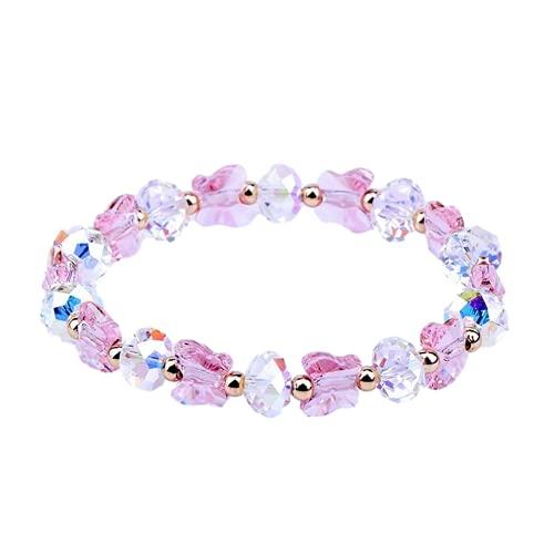 Pulseras, bonita pulsera flexible, hecha de materiales de cristal austriaco, forma de mariposa, es el mejor regalo para el día de la madre