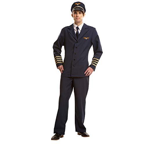 My Other Me Me-200971 azafatas Disfraz de piloto para hombre, M-L (Viving Costumes 200971)