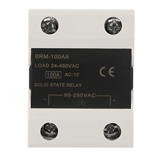 Relé de estado sólido, relé de estado sólido de 60 A, semáforos sin chispa para fotocopiadoras Luces de señal de computadora(BRM-100AA)