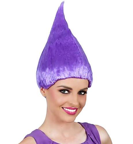 Paars - trol pruik - accessoires - vermomming - volwassenen - kinderen - unisex - halloween - carnaval