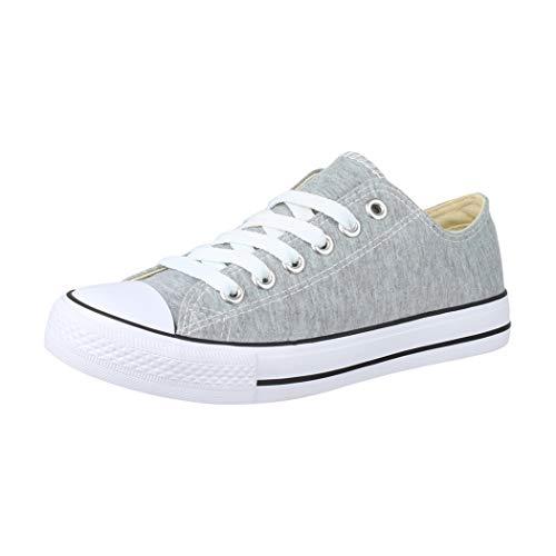 Elara Unisex Sneaker Low top Turnschuh Textil Chunkyrayan CHF Lt.Grey-39
