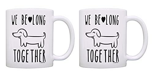 Tazas para parejas con texto en inglés 'We Belong Together' para parejas, 2 unidades