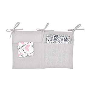 WoYii Hanging Diaper Organizer for Changing Table and Diaper Stackers Caddies and Crib Organizer Hanging Diaper Caddy Organizer for Baby Essentials Nursery Toys Organizer for Cribs (Free Size, Gray)