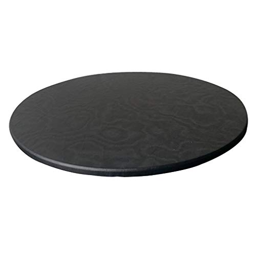 CUTICATE Polyester Backing Table Cloth Cover Waterproof Round Tablecloth Tablecover for Dinng/Poker Tables 120cm/48inch Dia - Black
