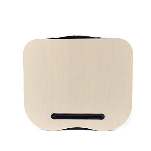 JYCRA - Cojín portátil multifunción para ordenador portátil, con tapa, ideal para lectura de juegos de trabajo o para divertirse en el ordenador o iPad 40x34x4cm Nature Wood