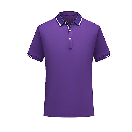 NOBRAND Sommer Poloshirt Kurzarm Arbeitskleidung Werbung T-Shirt Herren Gr. XXL, violett