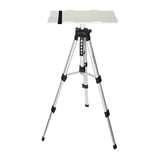 Vamvo Aluminum Universal Projector Tripod Stand, Adjustable Laptop Stand, Multi-Function Stand, DJ Equipment Holder Mount, Adjustable Height 16