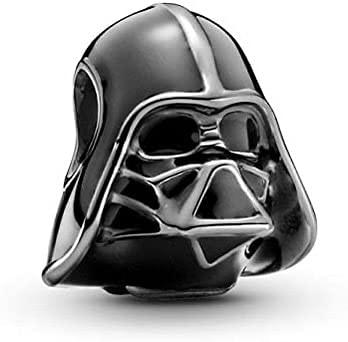 Abalorio de plata 925 de Darth Vader Jedi Star Wars compatible con abalorios Pandora, pulsera de cadena de plata, Trollbeads, Chamilia y Biagi