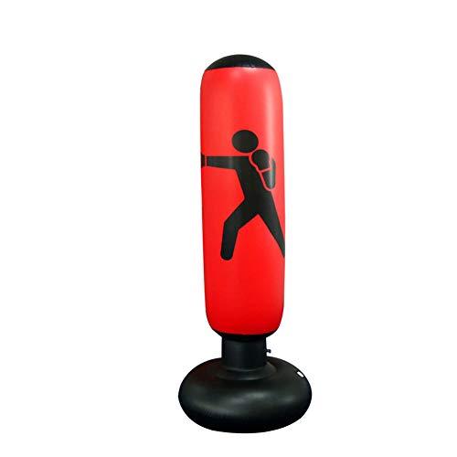 Boxsack Aufblasbare PVC-Boxen Ständer Druckentlastung Heavy Duty Boxen Ziel Fitness Zubehör Red 1pc
