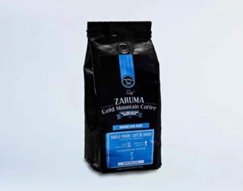 Zaruma Gold Mountain Coffee – Ecuadorian 100% Arabica Coffee. Medium/Dark Roast, Single Origin Ground Coffee (12 oz. bag). High Altitude Coffee