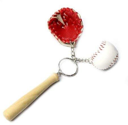 Baseball Ball Handschuh und Schläger Schlüsselanhänger | Schlagballspiel | Geschenk | Sport | MLB