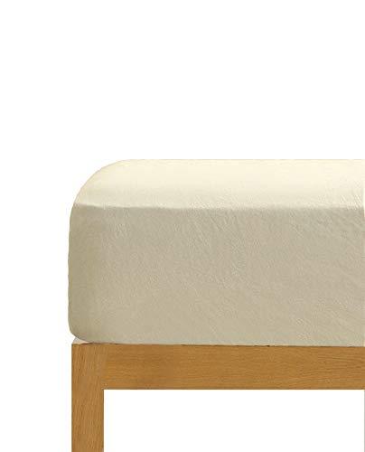Spannbettlaken, naturfarben, 100 % Baumwolle, 150 x 190/200 cm