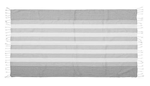 SAGAFORM Hamamtuch XXL, Badetuch/Tischdecke 145x250cm, 100% Bio-Baumwolle, Strandtuch Groß, Badetuch, Kleine Picknickdecke Boho, Handtuch Maritim, Saunatuch, Sauna Zubehör (Grau)