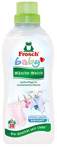 Frosch Baby Wäsche-Weich, hautschonender Weichspüler mit natürlichem Kamille-Extrakt, vegan, 30 Waschladungen, 2er Pack (2 x750 ml)