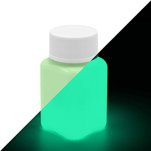 lumentics Premium Leuchtfarbe Grün 100ml - Im Dunkeln leuchtende Farbe, Helle Nachleuchtfarbe, Selbstleuchtende Wandfarbe, UV Glühfarbe, Glow (Grün-Grün)