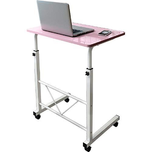Table Élévatrice Pour Ordinateur Portable Bureau D'ordinateur Avec Lit En Bois Simple Table Élévatrice De Bureau Simple Table D'appoint Pour Canapé De Mode Mobile Mini-bureau (Color : Pink)